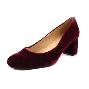 CL by CHINESE LAUNDRY Burgundy Ada Velvet Pumps 8